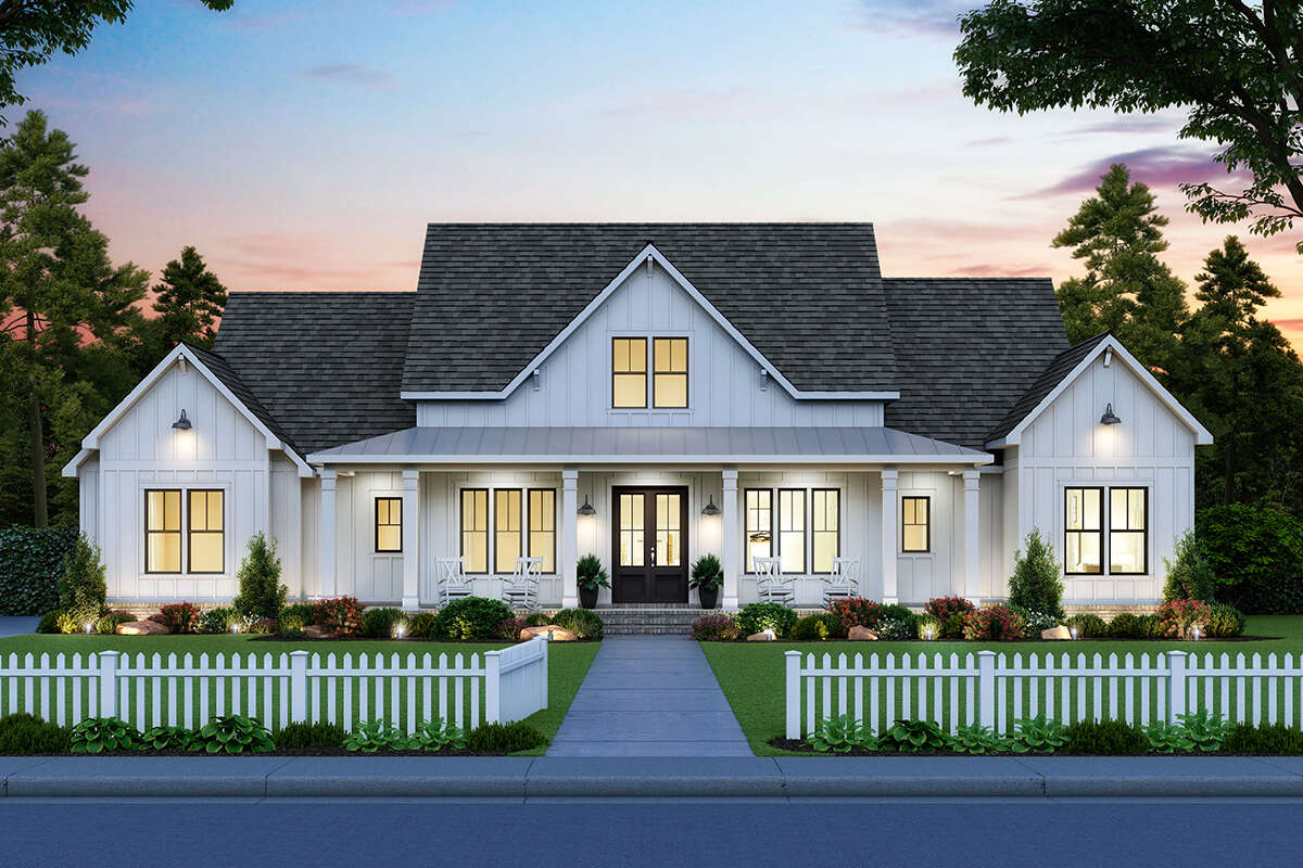 Modern Farmhouse Plan: 2,400 Square Feet, 4 Bedrooms, 3.5 ...