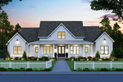 4 Bed, 3 Bath, 2400 Square Foot House Plan #4534-00039