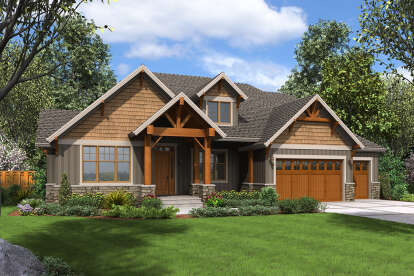 4 Bed, 4 Bath, 3340 Square Foot House Plan - #2559-00886