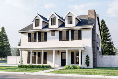 4 Bed, 2 Bath, 3086 Square Foot House Plan #963-00450