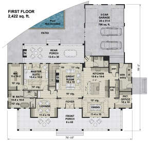 Main Floor for House Plan #098-00326