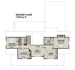 Second Floor for House Plan #098-00326