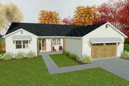 3 Bed, 2 Bath, 2080 Square Foot House Plan #1462-00030