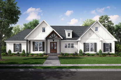 3 Bed, 2 Bath, 041-00234 Square Foot House Plan - #041-00234