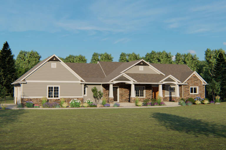 Craftsman House Plan #5032-00049 Elevation Photo