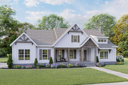 3 Bed, 2 Bath, 2084 Square Foot House Plan #009-00295