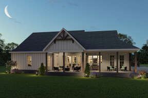 Modern Farmhouse House Plan #009-00295 Elevation Photo