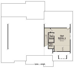 Optional Second Floor for House Plan #009-00295