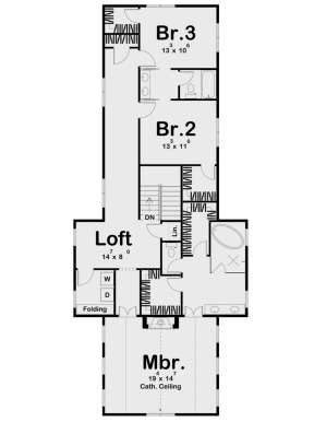 Second Floor for House Plan #963-00456