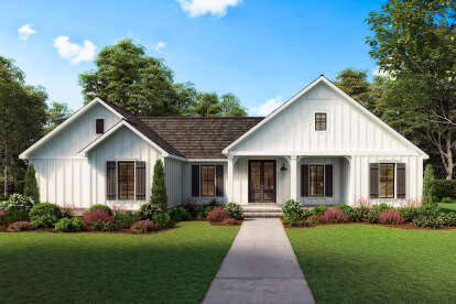 3 Bed, 2 Bath, 1474 Square Foot House Plan - #4534-00041