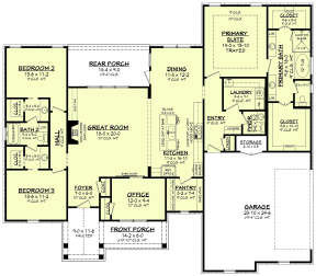 Main Floor for House Plan #041-00235