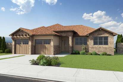 3 Bed, 2 Bath, 1695 Square Foot House Plan #2699-00009
