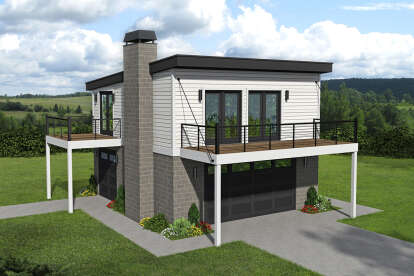 1 Bed, 1 Bath, 793 Square Foot House Plan - #940-00253