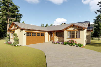 3 Bed, 2 Bath, 1619 Square Foot House Plan #2699-00010