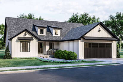 3 Bed, 2 Bath, 1457 Square Foot House Plan - #963-00464