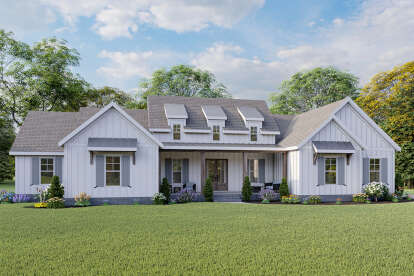 4 Bed, 3 Bath, 2801 Square Foot House Plan - #009-00296