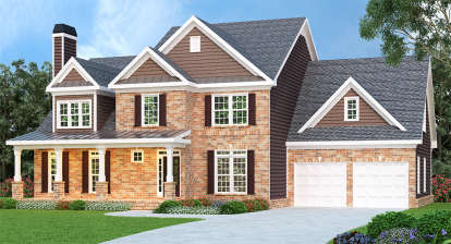 4 Bed, 2 Bath, 2854 Square Foot House Plan - #009-00009