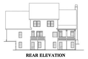Southern House Plan #009-00009 Elevation Photo