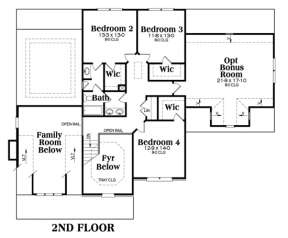 Second Floor for House Plan #009-00009