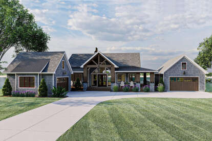 2 Bed, 2 Bath, 2150 Square Foot House Plan #963-00465
