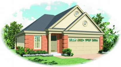 3 Bed, 2 Bath, 1335 Square Foot House Plan - #053-00242