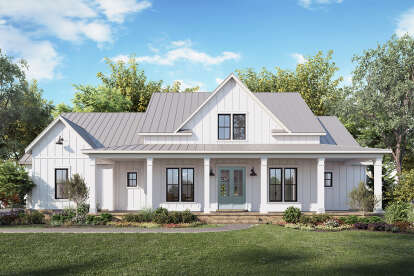 4 Bed, 3 Bath, 2716 Square Foot House Plan - #4534-00044