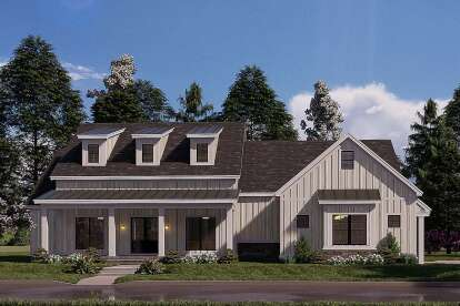 4 Bed, 2 Bath, 2343 Square Foot House Plan - #8318-00181