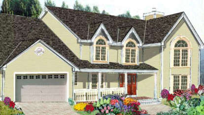 5 Bed, 2 Bath, 2416 Square Foot House Plan - #033-00054