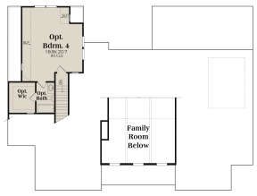 Optional Second Floor for House Plan #009-00300