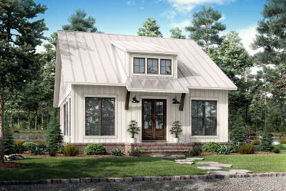 2 Bed, 1 Bath, 1070 Square Foot House Plan - #041-00239