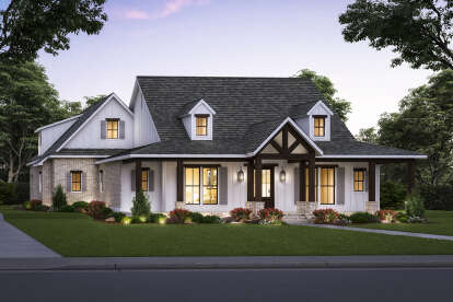 4 Bed, 3 Bath, 2584 Square Foot House Plan - #4534-00048