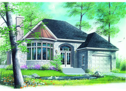 1 Bed, 1 Bath, 1231 Square Foot House Plan - #034-00006
