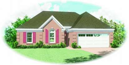 3 Bed, 2 Bath, 1362 Square Foot House Plan - #053-00254