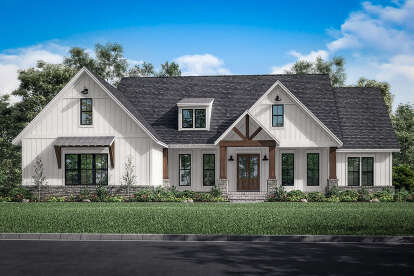 4 Bed, 3 Bath, 2864 Square Foot House Plan - #041-00243