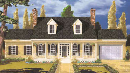 5 Bed, 2 Bath, 2484 Square Foot House Plan - #033-00055