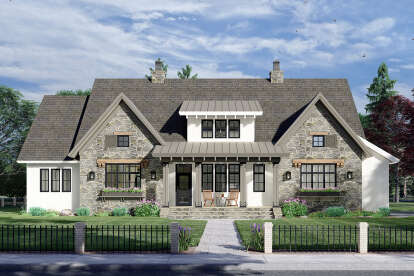 4 Bed, 3 Bath, 2655 Square Foot House Plan - #098-00327