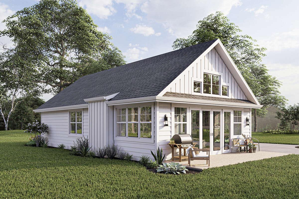Modern Farmhouse Plan: 1,200 Square Feet, 2 Bedrooms, 2 ...