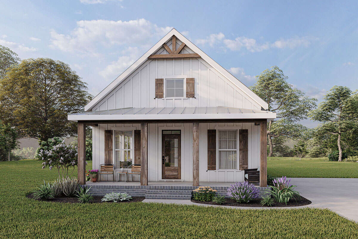 Modern Farmhouse Plan 1 260 Square Feet 2 Bedrooms 2 Bathrooms 009 00303