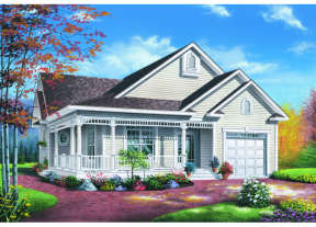 Country House Plan #034-00007 Elevation Photo