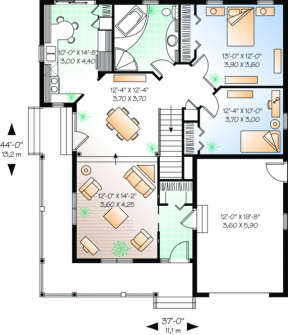 Floor Plan for House Plan #034-00007