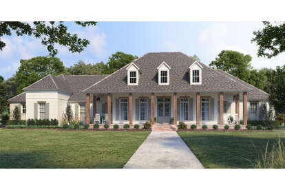 4 Bed, 3 Bath, 3535 Square Foot House Plan - #4534-00055