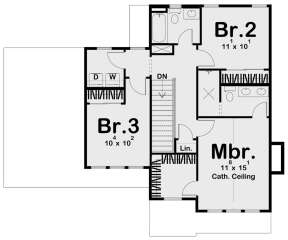 Second Floor for House Plan #963-00531