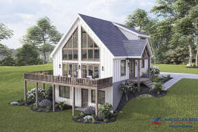 Mountain House Plan #940-00336 Elevation Photo