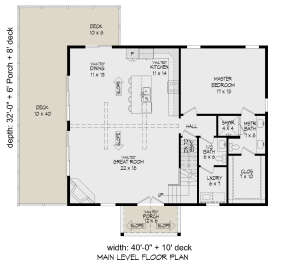 Main Floor for House Plan #940-00336