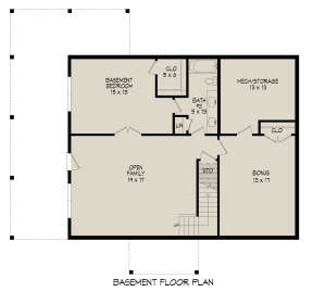 Basement for House Plan #940-00336