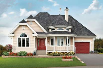 2 Bed, 1 Bath, 1191 Square Foot House Plan - #034-00008
