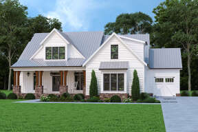Modern Farmhouse House Plan #8594-00451 Elevation Photo
