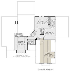 Second Floor for House Plan #8594-00451