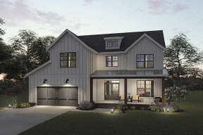 Modern Farmhouse House Plan #009-00304 Elevation Photo