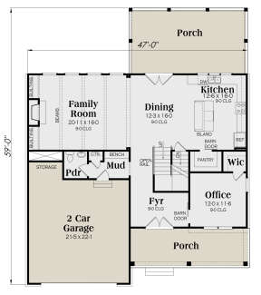 Main Floor for House Plan #009-00304